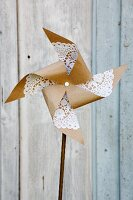 Hand-made windmill