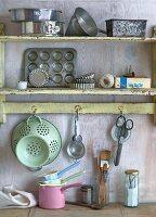 Baking utensils in kitchen
