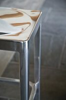 Detail of designer barstool