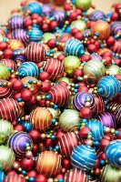 Colourful bauble decorations for Indian wedding