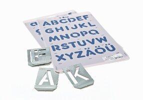 Alphabet craft stencil