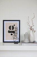 Still-life arrangement of modern Scandinavian designer pieces