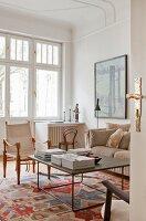 Classic living room in period apartment