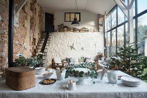 Scheunen-Loft an Weihnachten