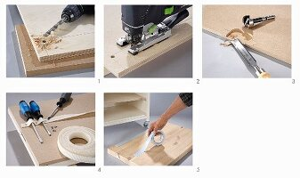 Instructions for making a miniature workbench