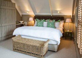 Rustic, elegant attic bedroom