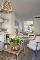 Offener Wohnbereich in renoviertem Stadthaus