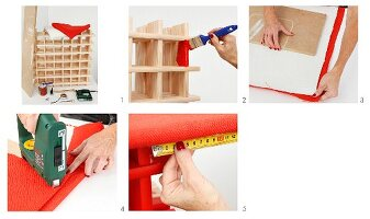 Instructions for revamping a wine rack
