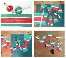 Instructions for making watermelon bunting