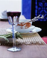 Table set in Oriental style