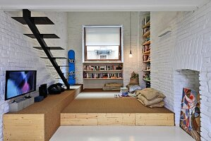Small industrial-style maisonette apartment