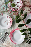 Hand-painted china plates