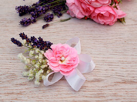 Hair accessory handmade from real flowers