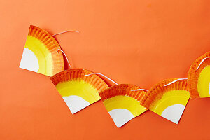 Candy Corn Bunting for Halloween