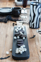 Black and white sweets for Halloween