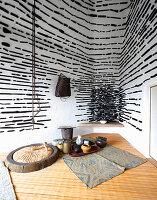 Teeraum mit traditioneller japanischer Bauweise