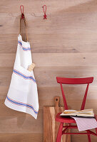 A DIY apron made from linen tea towels