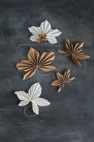 Origami maple leaves