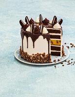 Mint-choc cake with Swiss meringue buttercream