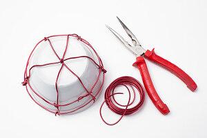 Anleitung für ein selbstgemachtes Drahtkörbchen