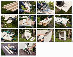 Anleitung für selbstgebauten Strandkorb aus Holz