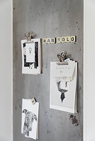 Sheet metal notice board