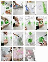 DIY-Papiernester für Ostereier herstellen