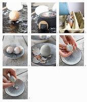 Ostereier aus Beton herstellen