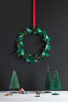 DIY-Weihnachtskranz aus Filz
