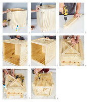 Instructions for making wooden planter