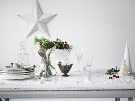 Christmas decoration and pottery