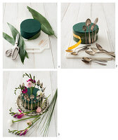 Instructions for making a flower arrangement decorated with vintage spoons