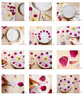 Instructions for making floral mandalas