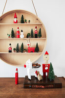DIY Christmas arrangement made from building blocks