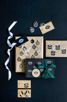 Handmade gift wrapping paper