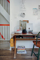 Vintage-style accessories on old desk