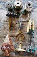 Utensils for making Christmas decrations