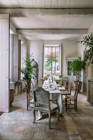 Elegant dining room in French country house