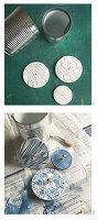 Konservendosen zu dekorativen Aufbewahrungsgefäßen recyceln