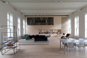 Designer furniture in loft apartment