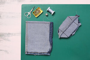 Utensils for making denim organiser