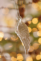 Angel wing Christmas decoration