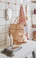 DIY bag made of reinforced fabric