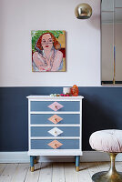 Old chest of drawers in a new look