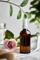 Handmade, natural face toner with rosewater