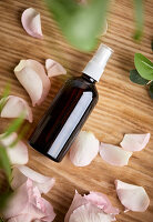 Natural handmade face tonic with rose water