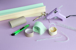Käfige aus Papprolle basteln