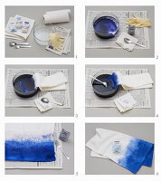 Instructions: dyeing a cushion cover using the Shibori technique