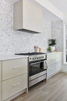 Modern kitchen in shades of grey