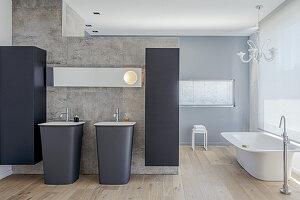 Spacious bathroom in Italian design